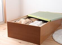日本製フレーム畳調ベッド