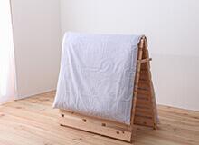 日本製ひのき折りたたみすのこベッドシングルサイズ