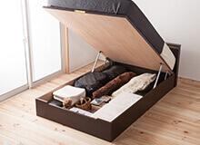 日本製ガス圧収納ベッドシングルサイズ