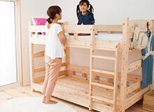 日本製ひのき二段ベッドシングルサイズ